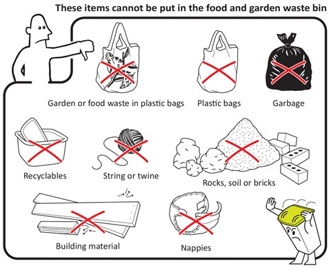 Food and garden waste bin no items